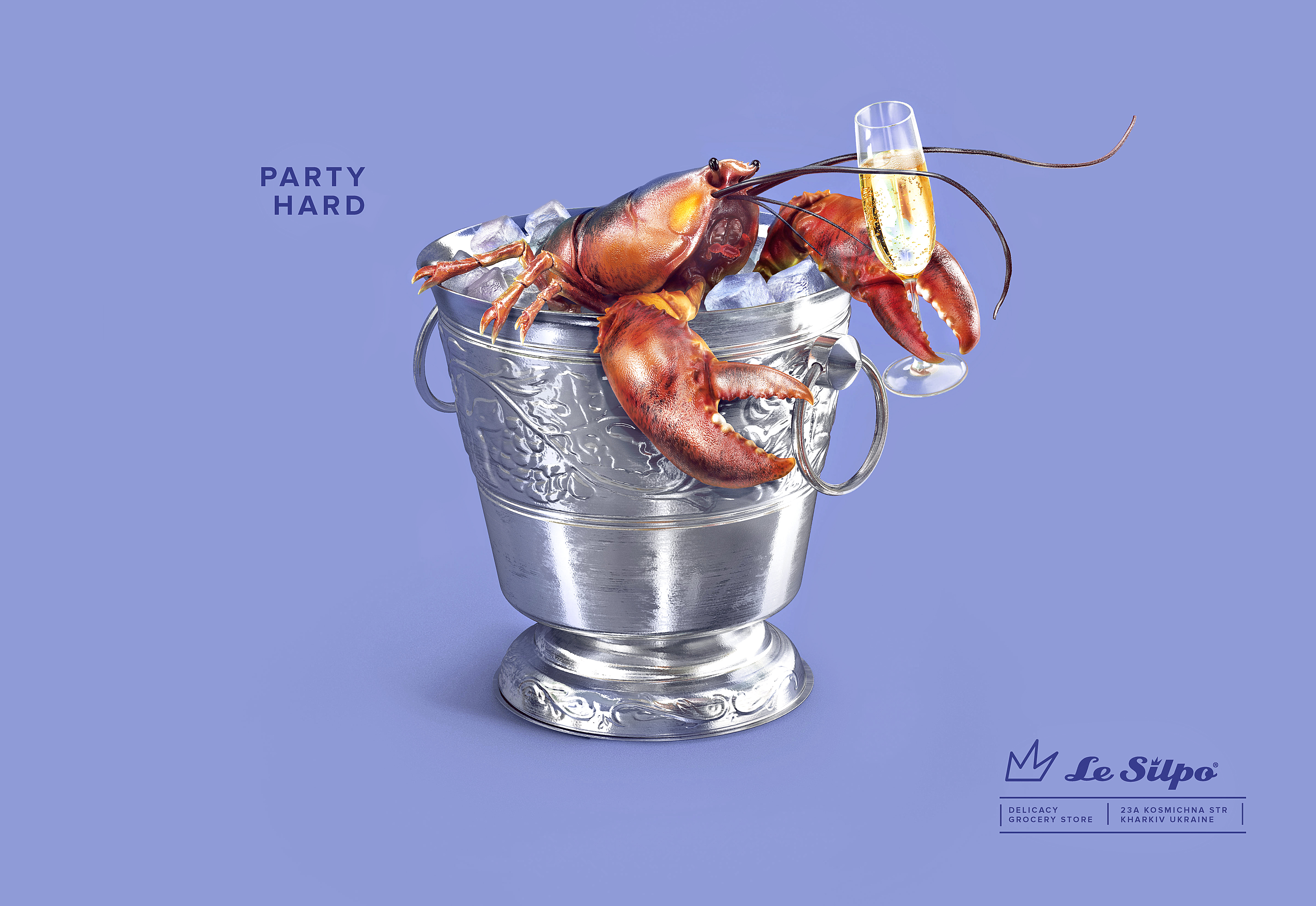 Party Hard. Lobster